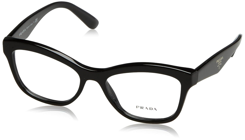 b46de6f2221d Prada PR29RV Eyeglass Frames 1AB1O1-54 - Black PR29RV-1AB1O1-54 at Amazon  Women s Clothing store