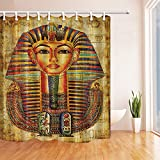 NYMB Africa Decor Egyptian Vellum Avatar Shower Curtain, Mildew Resistant Waterproof Polyester Fabric Bathroom Decorations, Bath Curtains Hooks Included, 69X70 inches (Multi14)
