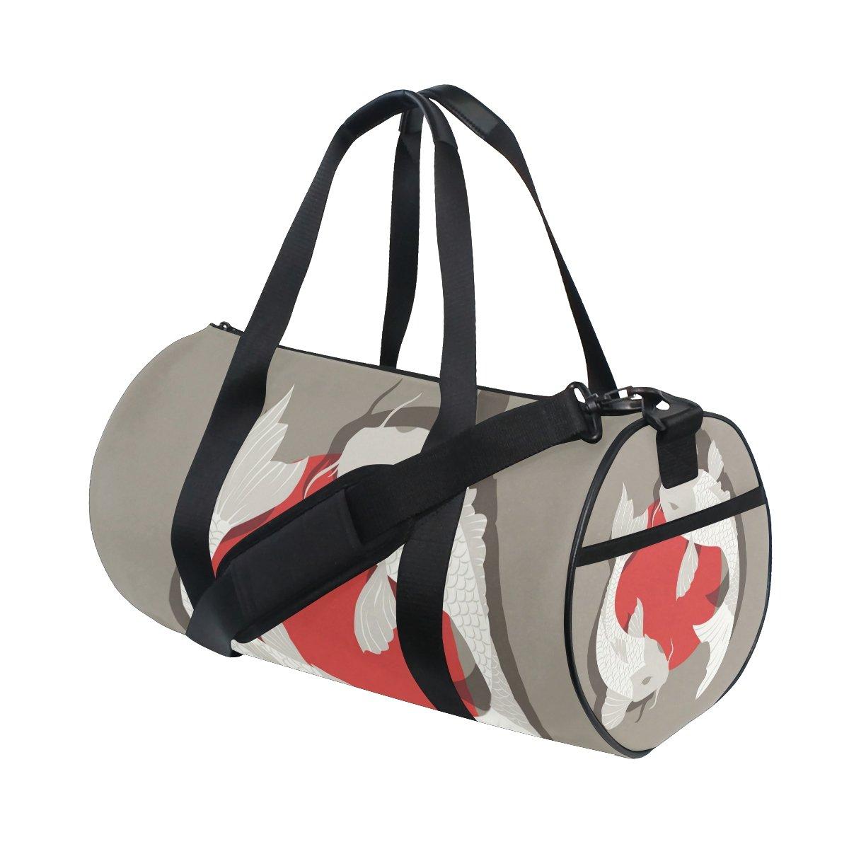 Japanese Koi Fish Travel Duffel Shoulder Bag ,Sports Gym Fitness Bags