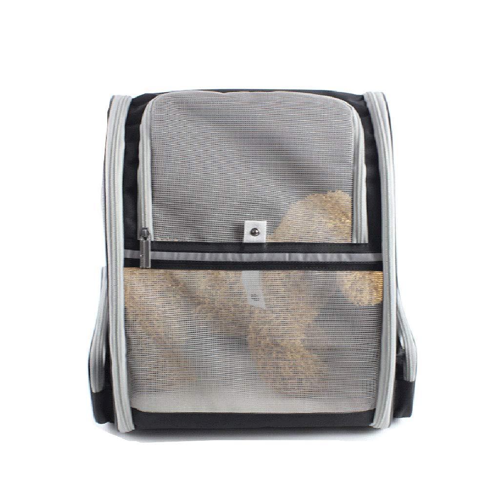 FITIN Pet Backpack Portable Dog Bag Foldable Super Breathable Travel Cat Bag Pet Bag Suitable For Outdoor Hiking, Black