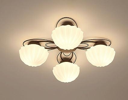 JAZS® Lámparas de techo, estilo americano Dormitorio luces ...