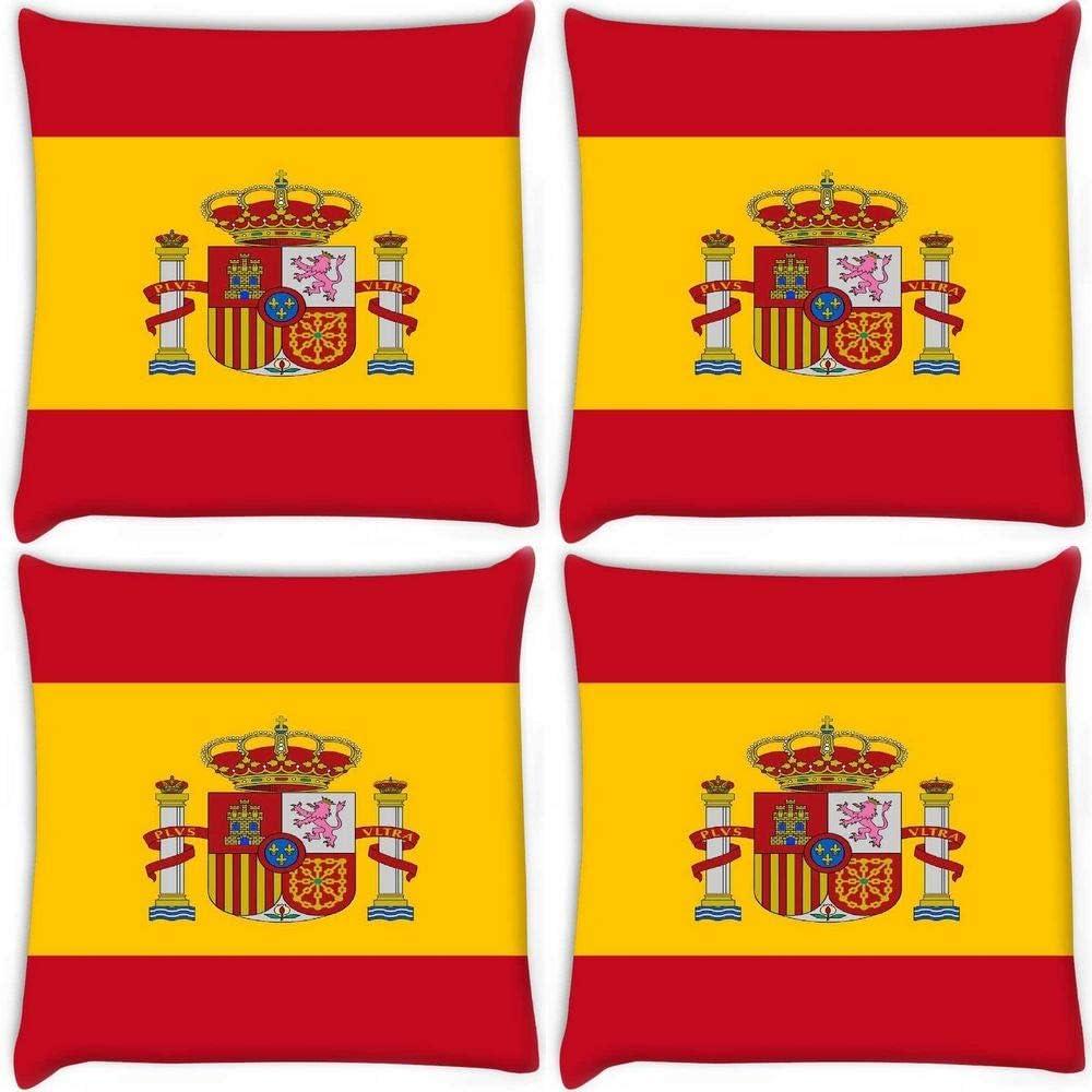 Funda de cojín con estampado de cebra roja 2980 de la bandera de España (55,8 cm): Amazon.es: Oficina y papelería