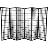 Coaster Oriental Style Room Screen Divider,3,4,5,6,8,10 Black (BLACK-6)
