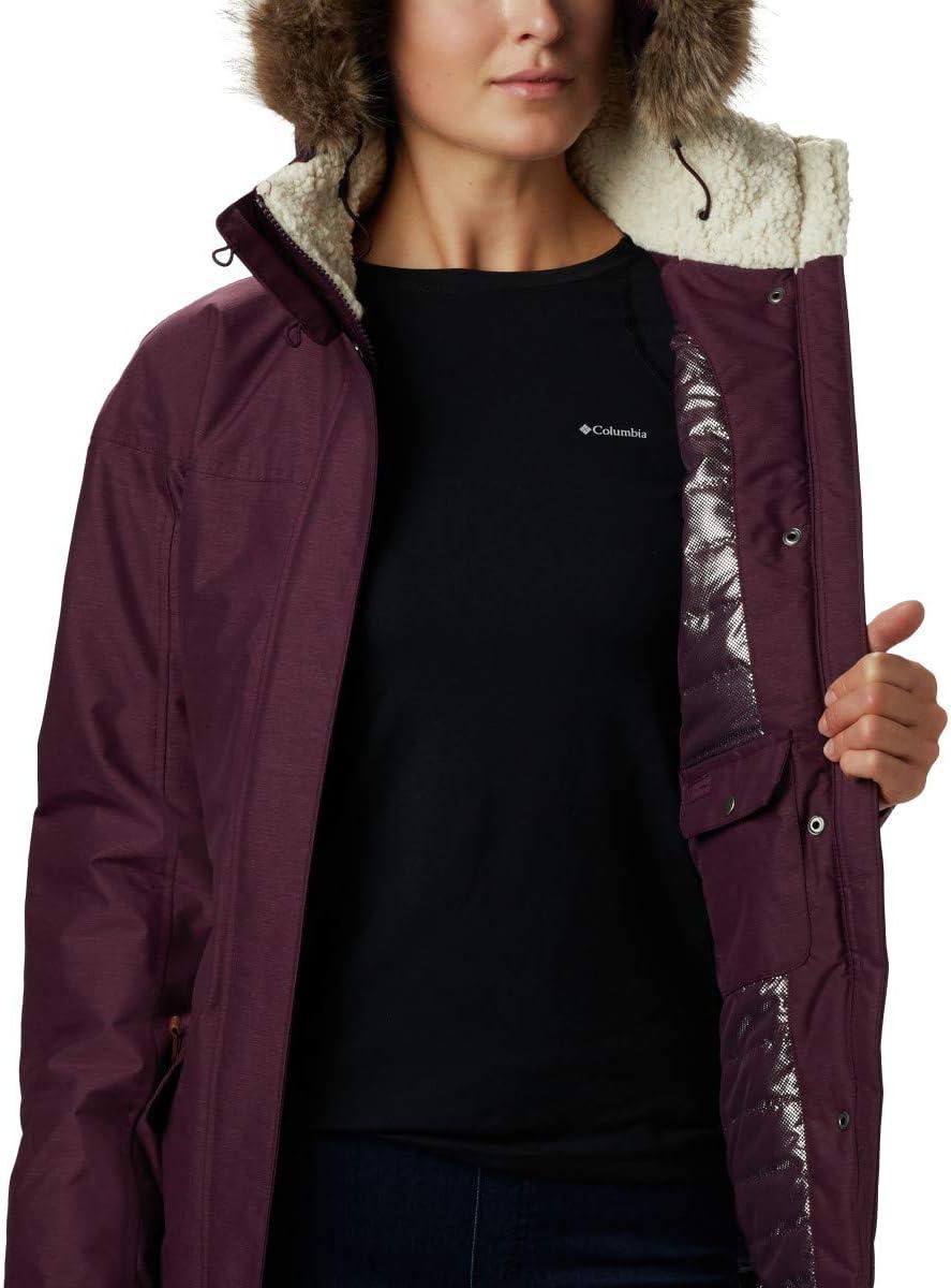 Talla S Columbia 1515501 Chaqueta Impermeable con Capucha para Mujer Black Carson Pass II Jacket Negro
