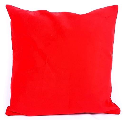 saybil rojo terciopelo estilo funda para cojín 45 cm x 45 cm ...