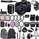 Canon EOS 77D DSLR Camera with EF-S 18-135mm f/3.5-5.6 IS USM Lens + 2Pcs 32GB Sandisk SD Memory + Automatic Flash + Battery Grip + Filter & Macro Kits + Backpack + 50'' Tripod + More