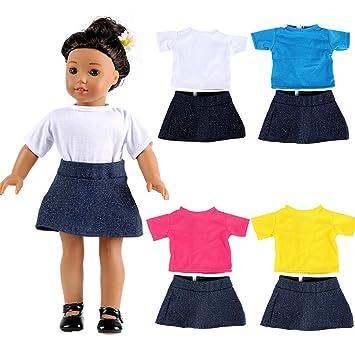 Amazon.es: American Girls Doll Ropa - Conjunto de Camiseta + Falda ...