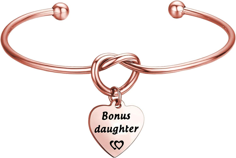 Gzrlyf Bonus Mom Bracelet Bonus Daughter Knot Bracelet Step Mom Daughter Gifts Wedding Gift for Mother in Law Daughter in Law