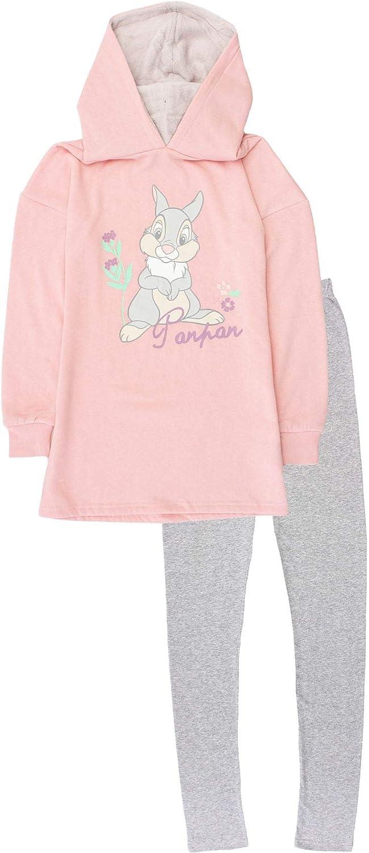 Disney Bambi - Conjunto de pijama con capucha y parte inferior para mujer