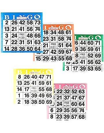 Bingo Cards Amazon Com Bingo Equipment