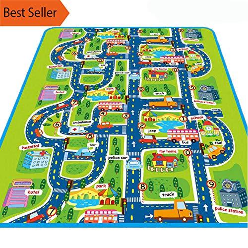 Foam Baby Play Mat Toys for Children's Mat Kids Rug Playmat Developing Mat Rubber Eva Puzzles Foam Play 4 Nursery (Traffic Park, 160cmx130cmx5mm)