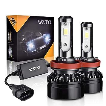WZTO Bombilla H8/H9/H11 LED, 10000LM Faros Delanteros 60W (30W *