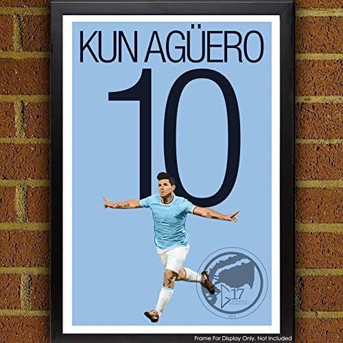 Amazon.com: Sergio Agüero Poster - Manchester City Art
