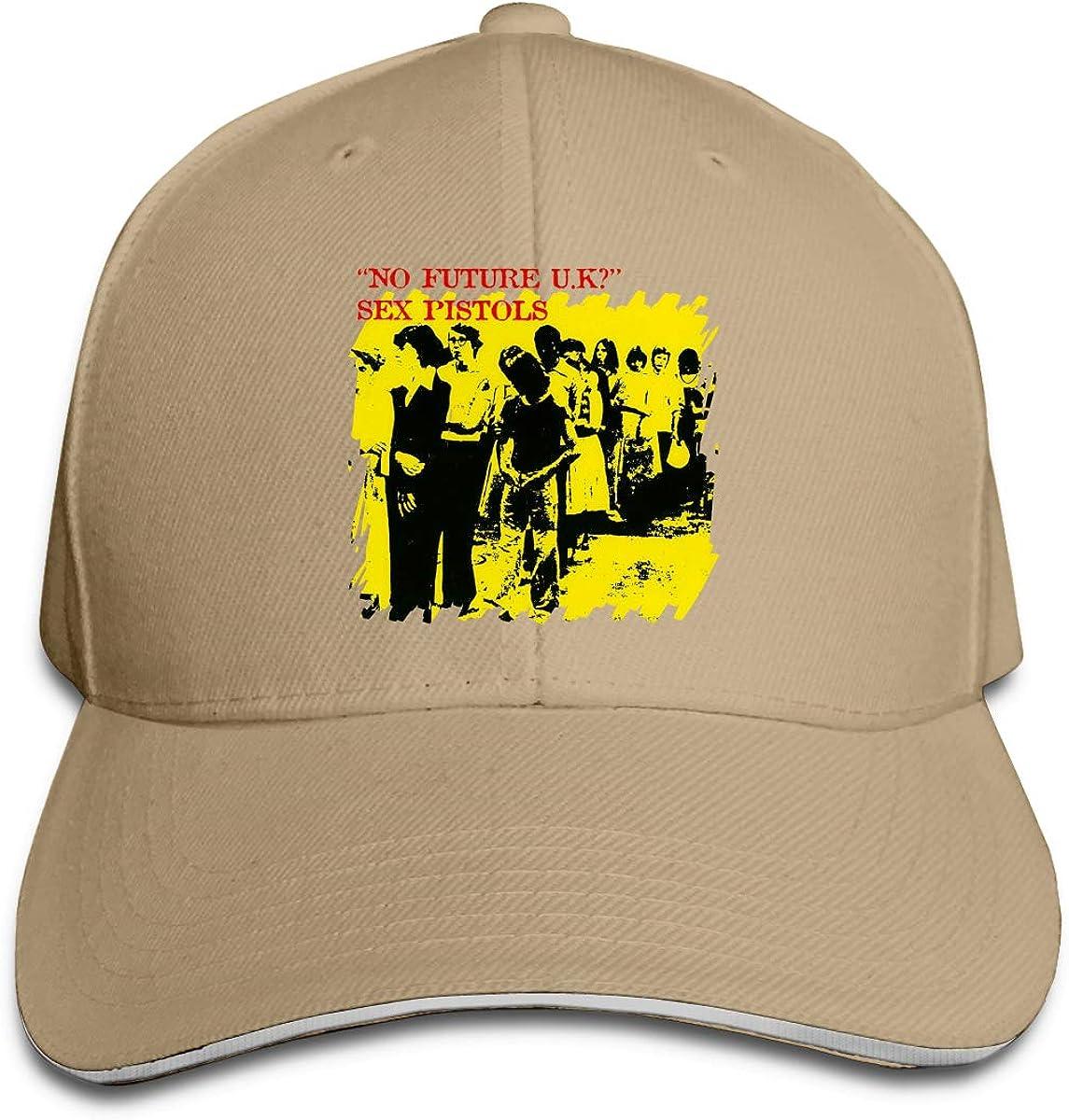 RoKrau Sex Pistols No Future UK Men Fashion Cowboy Hat One Size Natural