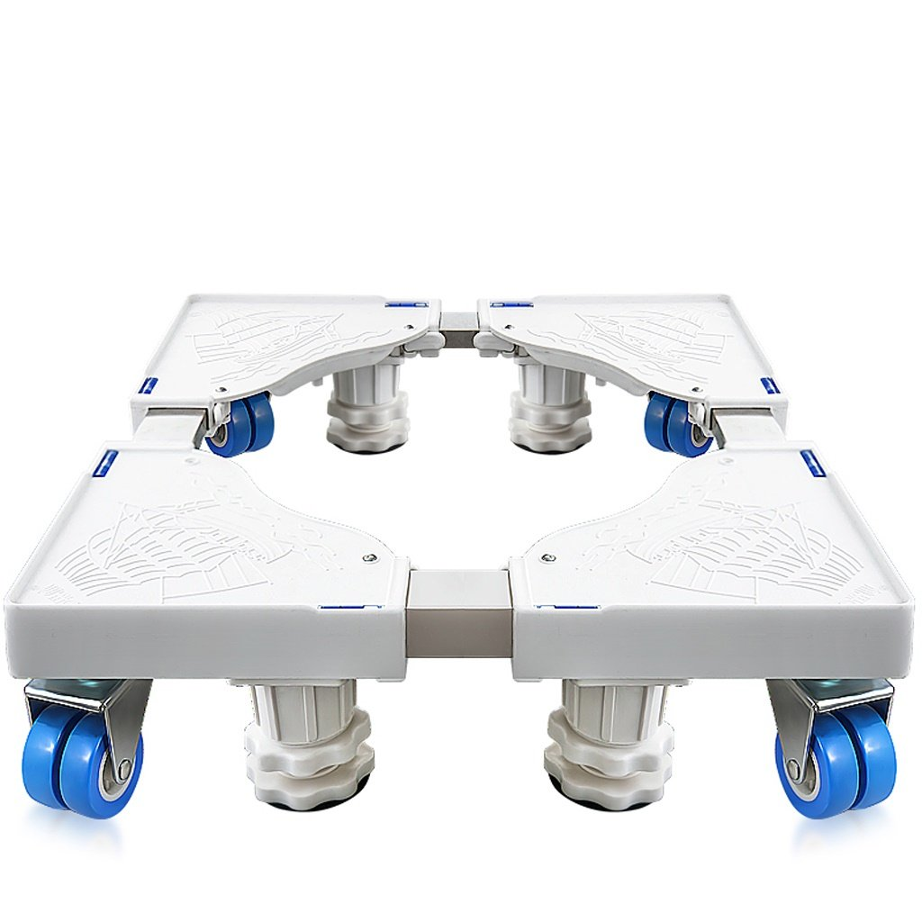 Drum Washing Machine Base Stainless Steel Move Bracket Fridge Stand -Casters (Size : B)