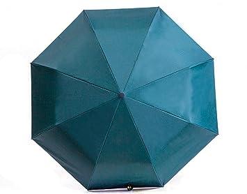 Doble Paraguas De Tres Veces Sombrilla Florales Sol Paraguas De ProteccióN Solar Para Hombres Y Mujeres