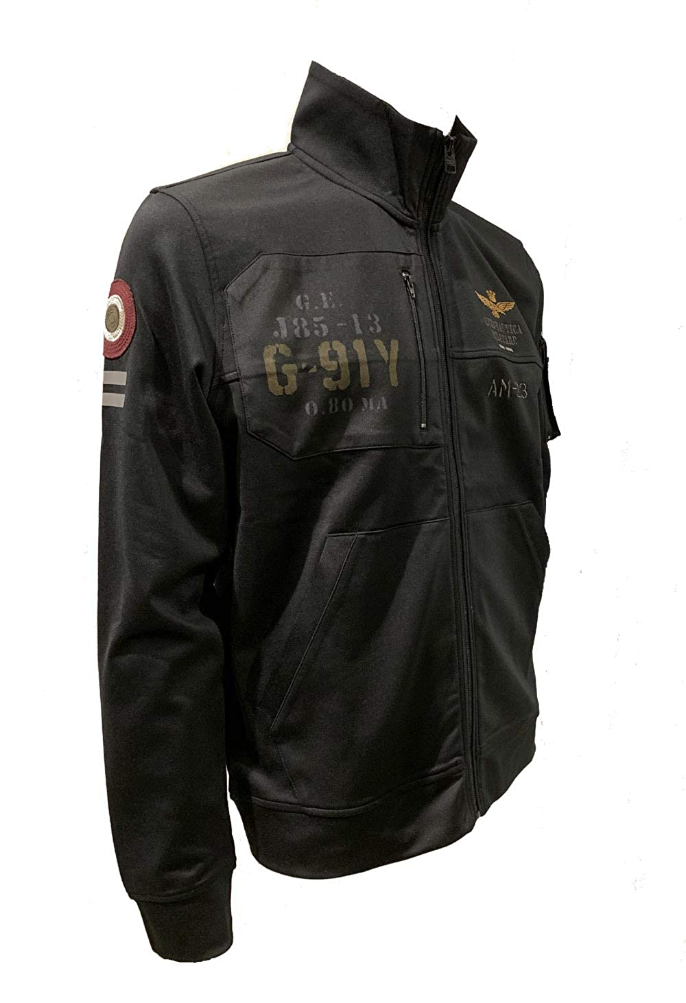 Aeronautica Militare Sudadera FE1432 Jet Black, Hombre, Polo 34300 ...