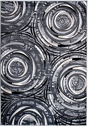 Summit D3-V55M-YHJV Chatham 213 Modern Abstract Area Rug  (Grey), 22 INCH X 35 INCH SCATTER DOOR MAT
