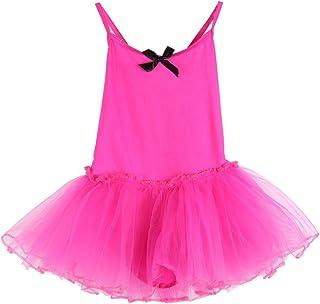 KISSION Vestiti Bambina Danza, Bambina Classica Tulle Vestito da Danza 6 Colore Facoltativo, 2-11 Anni (Senza Maniche)