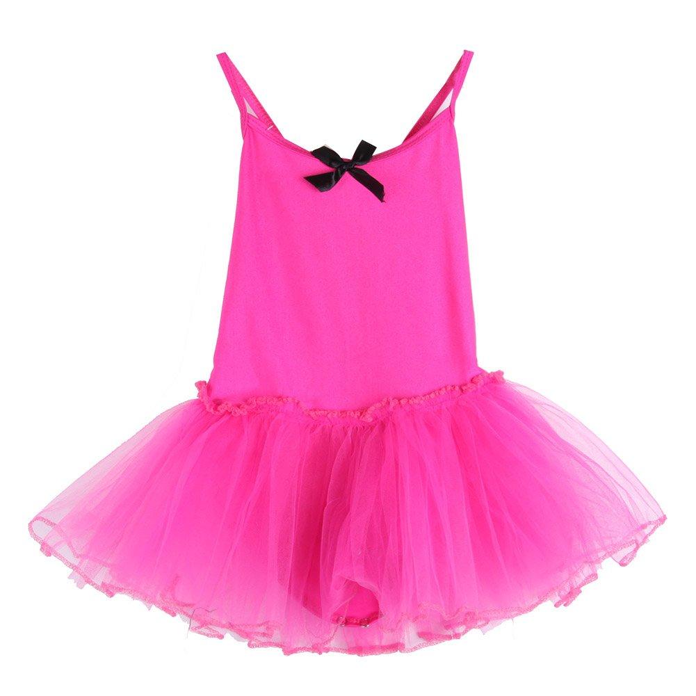 Vestiti Bambina Danza, KISSION Bambina Classica Tulle Vestito da Danza 6 Colore Facoltativo, 2-11 Anni ( Senza Maniche )