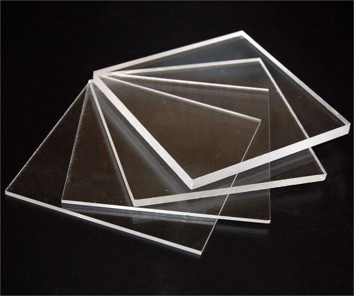 2mm Perspex Clear Acrylic (100mm x 100mm)