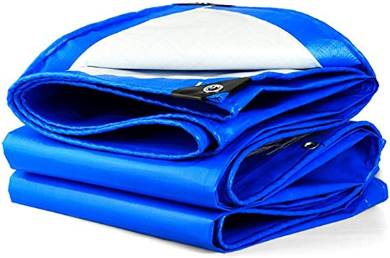 Dika UK teloni Impermeabili occhiellati Telo copripiscina Telo coprimoto Impermeabile telone occhiellato Blu Bianco 160 g // m2 Spessore 0.28mm