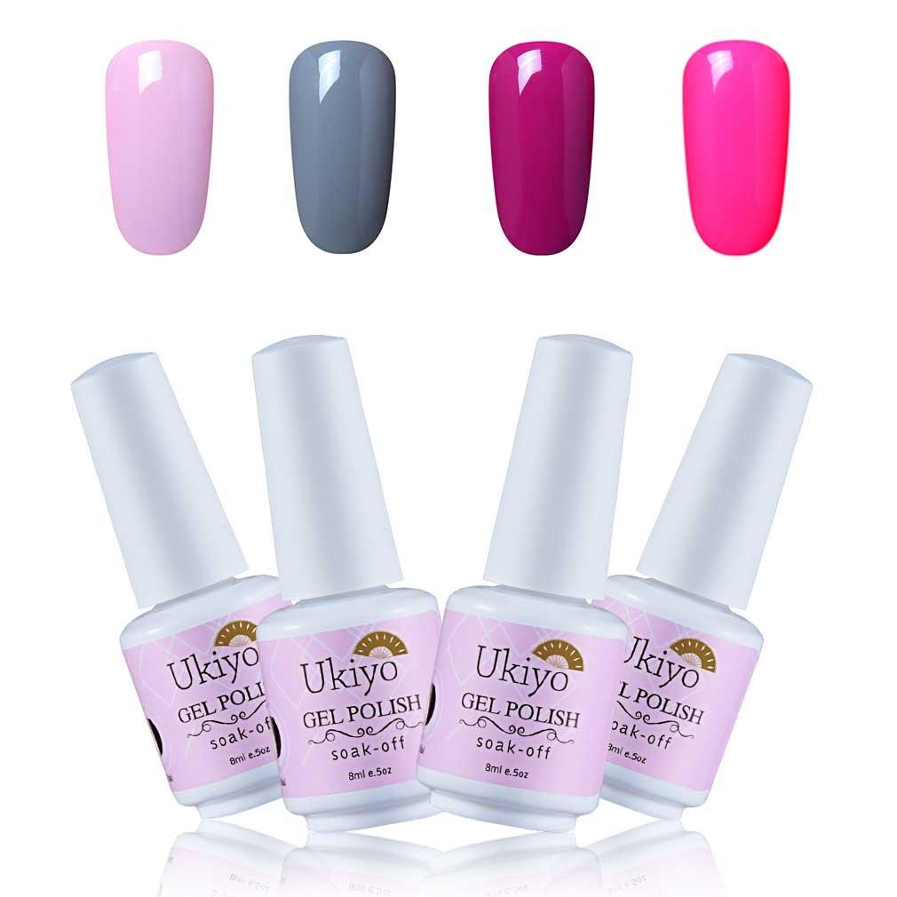 Ukiyo Esmalte Semipermanente Esmalte de Uñas de Gel Color 6pcs Kit de Manicura UV LED Soak Off 8ml
