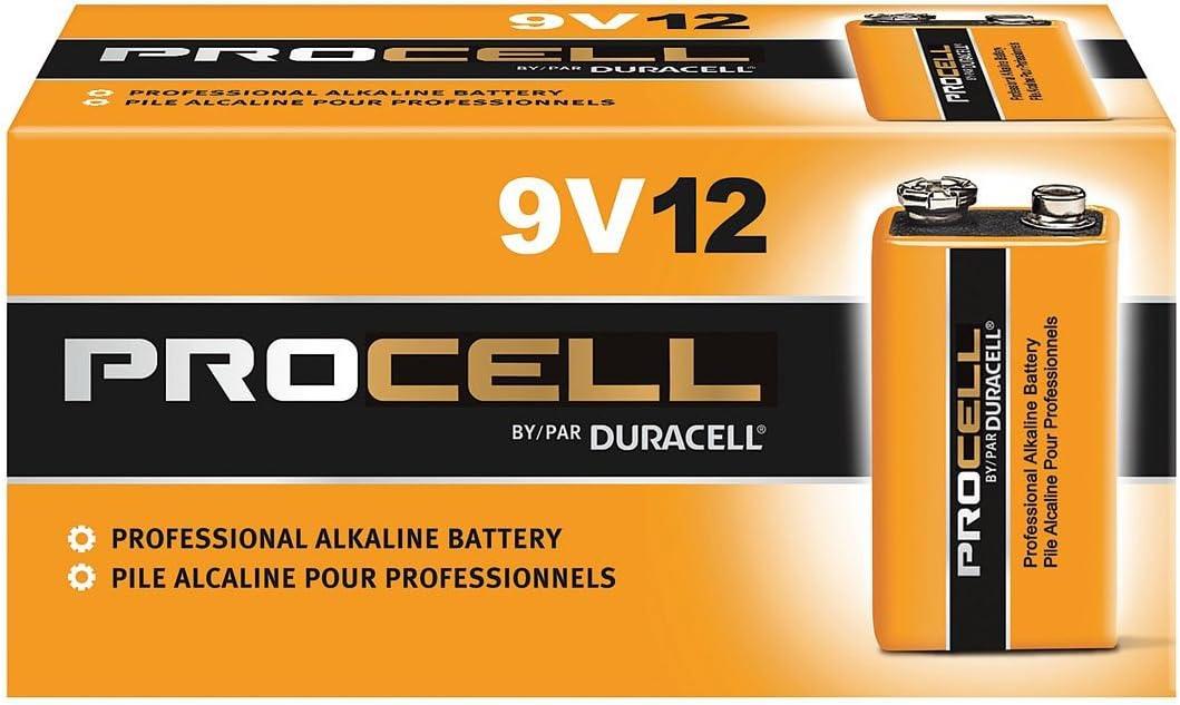 Duracell Procell Alkaline Batteries, 9V, 12/Box: Home Improvement