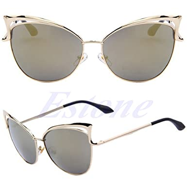 541119a0c7 Image Unavailable. Image not available for. Color  NNDA CO Fashion Women s  Gold Retro Cat Eye Sunglasses Classic Designer Vintage