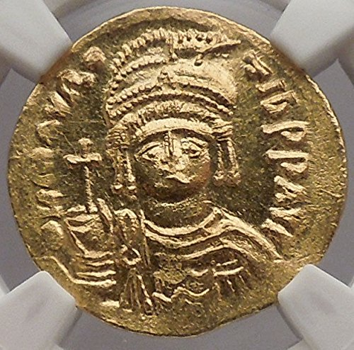 583 TR MAURICE TIBERIUS 583AD Constantiple AV Byzantine coin MS (Byzantine Bronze Coins)