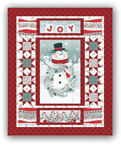 - Frosty Friends Flannel Quilt Kit by Jan Shade Beach - Backing Sold Separate