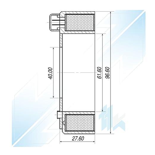 climática Compresor acoplamiento magnético Bobina apto para Mercedes-Benz Iveco Daily III/IV denso 10p17 C 12 V: Amazon.es: Coche y moto