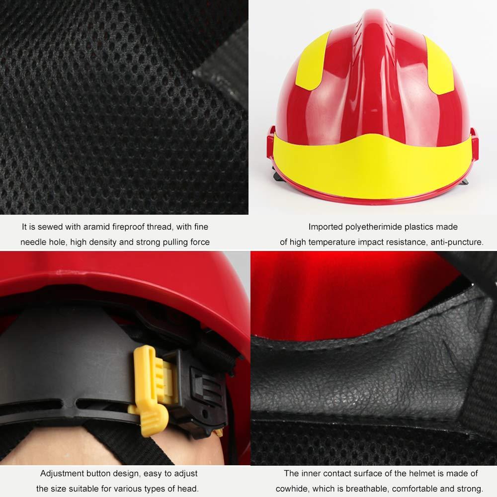 Leepesx Casque de Secours F2 Casques de s/écurit/é pour Pompier Protection du Lieu de Travail Contre Le feu en Casque Casque de Protection Casque r/ésistant /à la Chaleur et aux Chocs