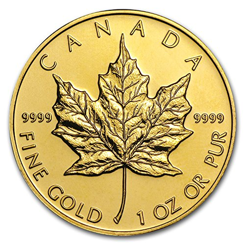 1979 CA - Present Canada 1 oz Gold Maple Leaf .9999 Fine (Random Year) 1 OZ About Uncirculated (Fine Gold Coin)