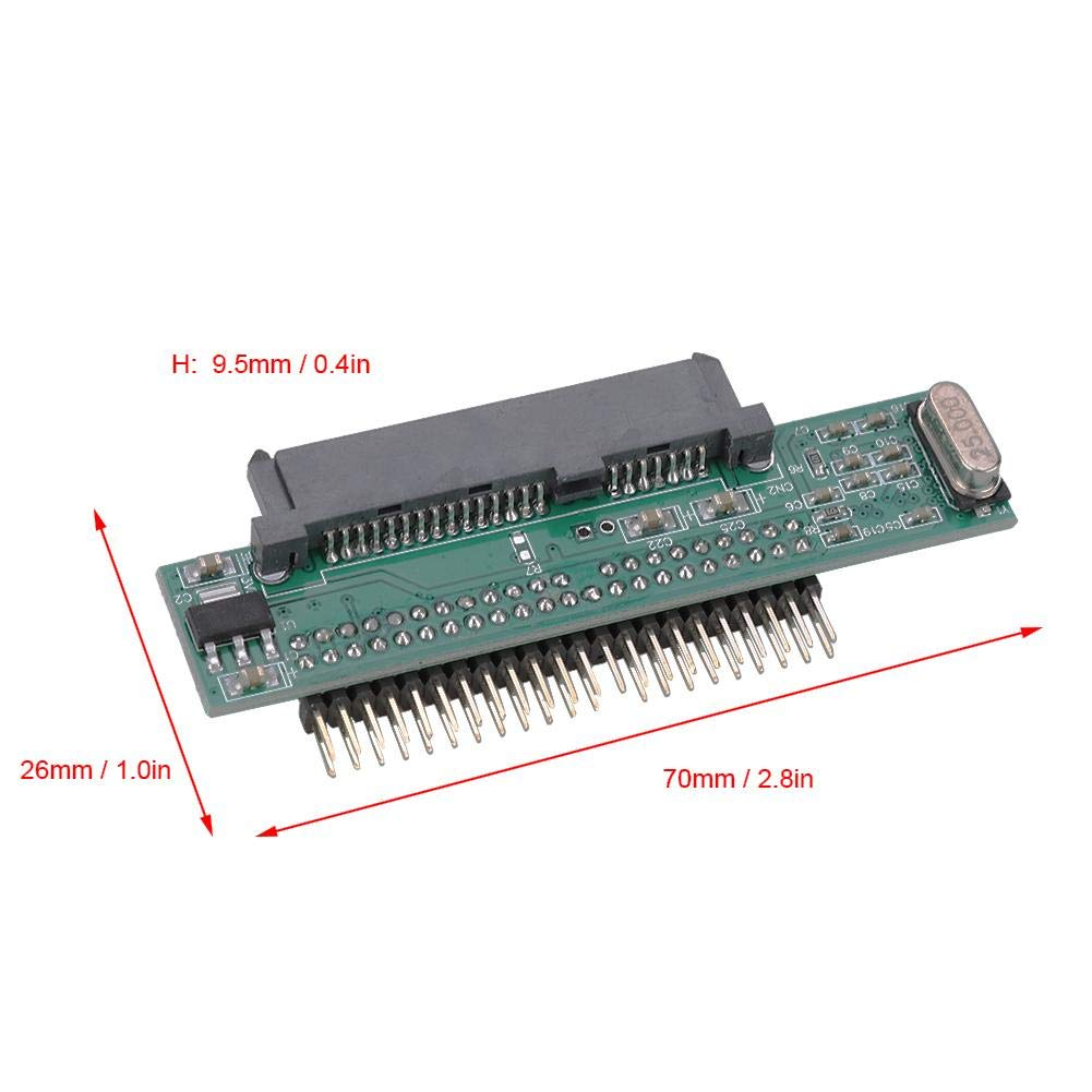 44Pin Interface Adapter Jadpes 2.5 Inch SATA Hard Drive to IDE Card Serial to Parallel Port for laptop 2.5 3.5 Inch IDE SATA I//II//III HDD SSD 2280 No Cable Needed