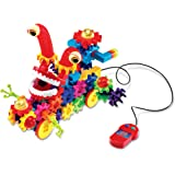 Learning Resources Gears! Gears! Gears! Motorized Wacky Wigglers Building Set, 130 Pieces