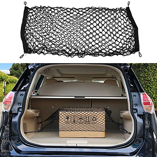 CALAP STORE - 90x40cm Trunk Car Rear Cargo Organizer Storage Elastic Carrier Mesh Net Nylon Car Interior Storage Bags Stowing Tidying