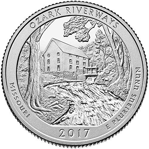 Silver Missouri Quarter - 2017 S Silver America the Beautiful Ozark National Scenic Riverways Quarter Proof