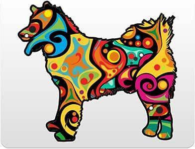 Eddany Psychedelic Canadian Eskimo Dog Plastic Acrylic