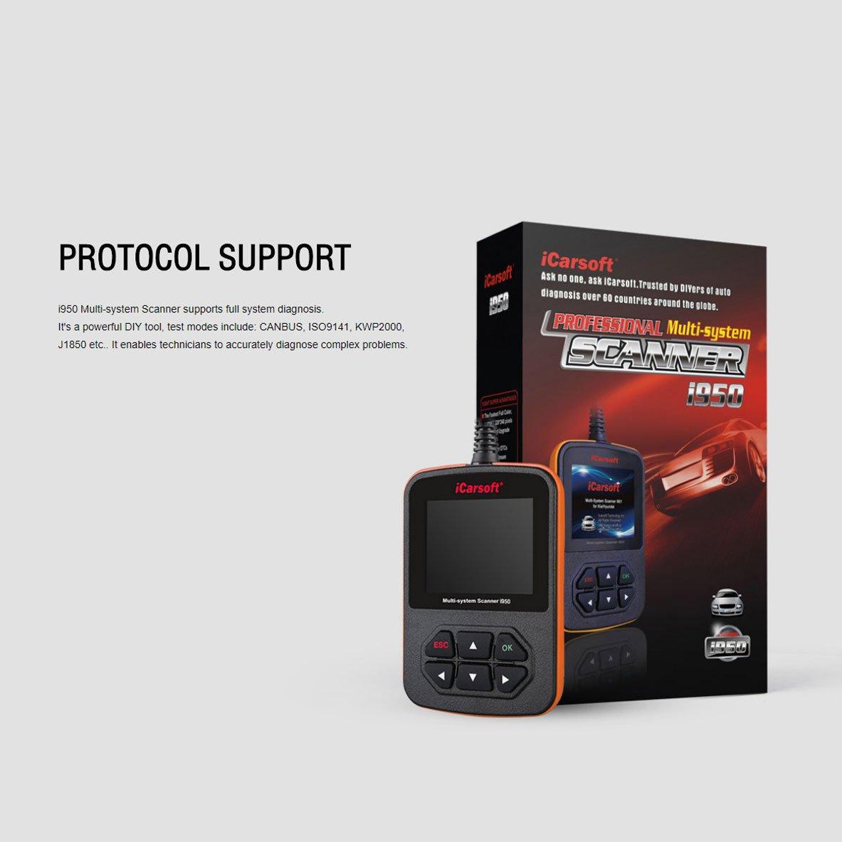 Amazon.com: FIAT and ALFA ROMEO OBD2 DIAGNOSTIC SCANNER TOOL ERASE FAULT CODES - iCARSOFT i950: Automotive