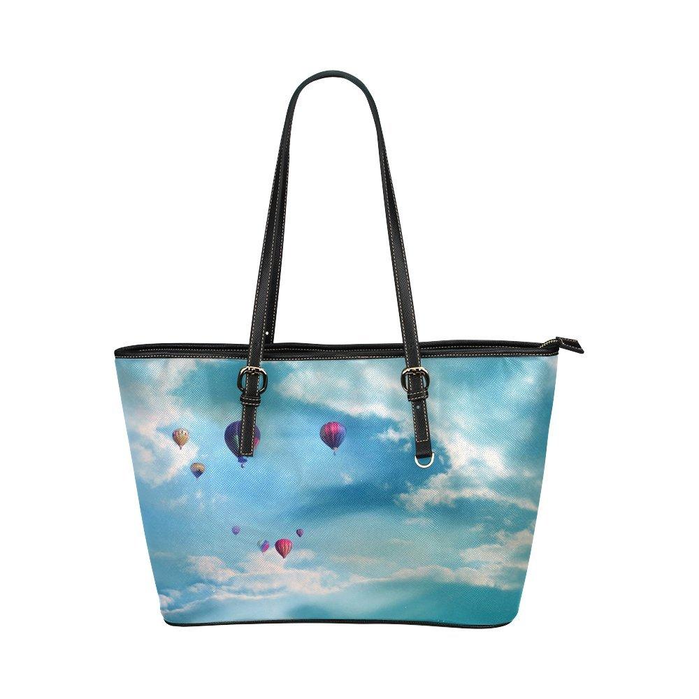 Hot Air Balloon Women's PU Leather Large Tote Bag/Handbag/Shoulder Bag