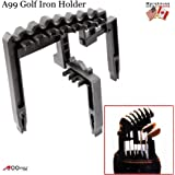 A99 Golf 9 Iron Club Holder Black Universal Durable Tool - Organize Your Irons clubs Above Bag