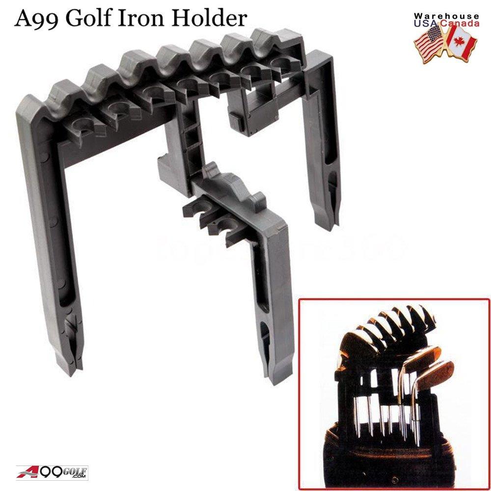 A99 Golf Club de Hierro 9 soporte negro Universal Durable Herramienta – Organizar sus palos de hierro sobre bolsa