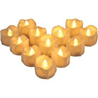 Upgraded Tea Lights with Timer, 12 PCS LED Flameless Candles, Flickering Votive Candles for Christmas Thanksgiving…