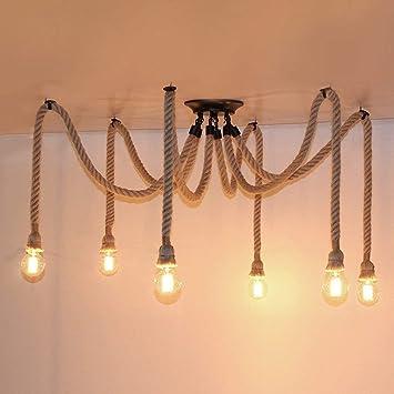 Vintage Diseño de cáñamo cuerda iluminación de Antiguo ...