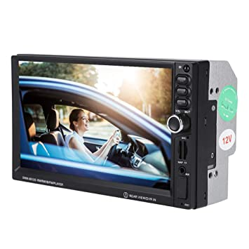ASHATA Car-Video Player GPS Radio Radio MP5 Doble Eje 7 ...