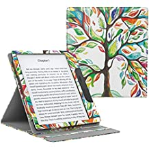 """MoKo Case for All-New Kindle Oasis (9th Generation, 2017 Release ONLY) - Multi Angle Viewing Vertical Flip Cover with Auto Wake / Sleep for Amazon 7"""" Kindle Oasis E-reader Case, Lucky TREE"""