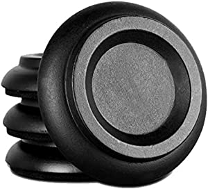 Hardwood Upright Piano Caster Cups with EVA Foam Piano Pad Furniture Round Load Bearing Pads Set of 4 (Black Wood)