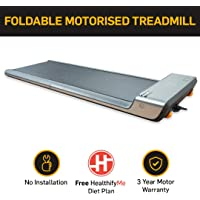 Lifelong SmartTrack LLTM45 (1 HP Peak) Compact Foldable Motorized WalkingPad with HealthifyMe Diet Plan, WalkingPad App, Max Speed 6km/hr (No Installation required)