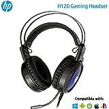 Headset HP Gamer H120 Preto - Com Microfone com Haste Flexível USB+P2 com Iluminação LED Áudio Stereo - 1QW67AA
